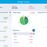 Powerapp budget tracker app