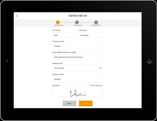 powerapps bezoeker registratie app